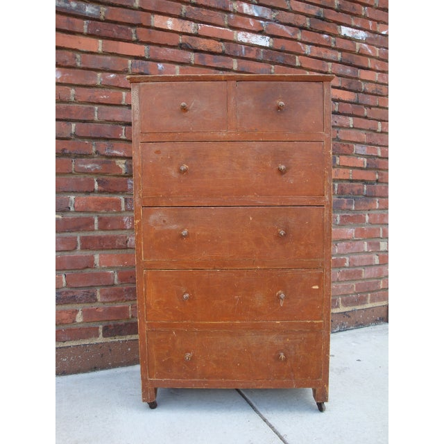 Early American Folk Art Grain Painted Chest of Drawers For Sale - Image 3 of 8