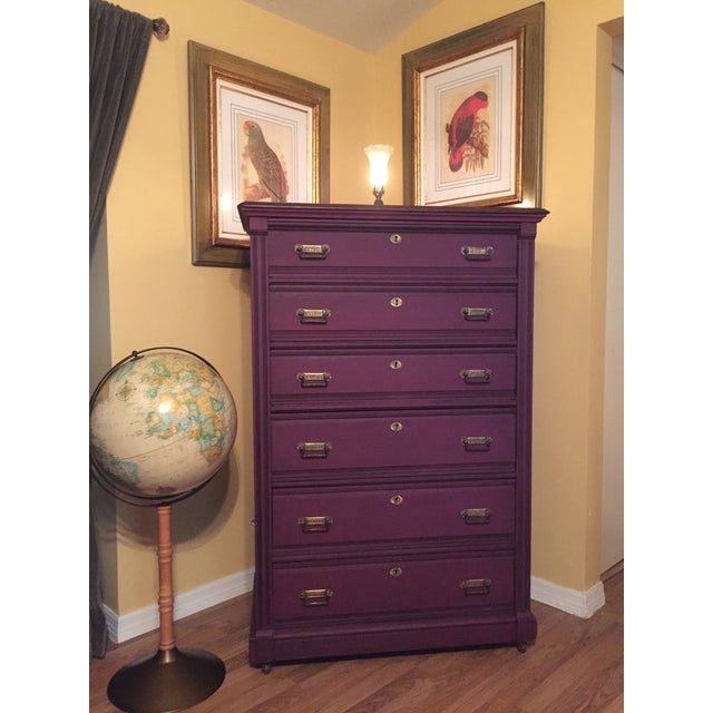 1900s Early American Antique Painted Highboy Chest of Drawers For Sale - Image 12 of 13
