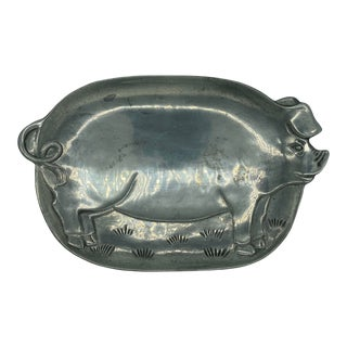 1980s Vintage Aluminum Pig Tray For Sale