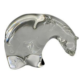 Vintage Steuben Glass Paul Schulze Crystal Polar Bear Figurine For Sale