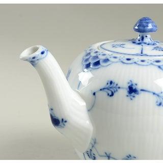 Royal Copenhagen Blue Fluted Half Lace Border Teapot & Lid Preview