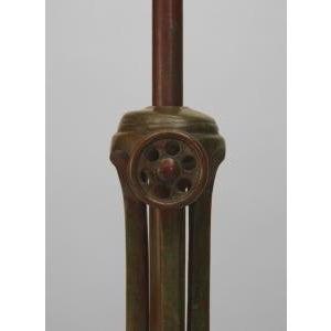 Bronze American Mission bronze adjustable floor lamp For Sale - Image 7 of 11