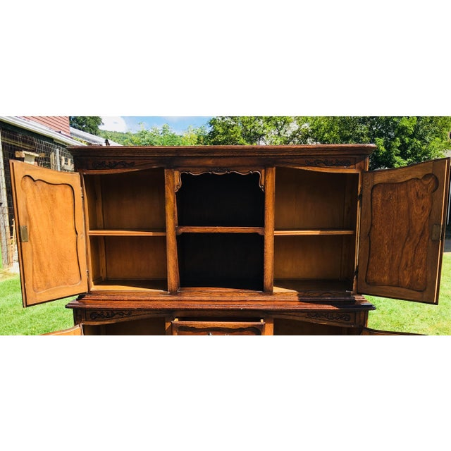 20th Century French Country Walnut Hutch For Sale - Image 9 of 13