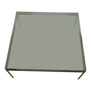 Zographos Glass & Stainless Steel Coffee Table