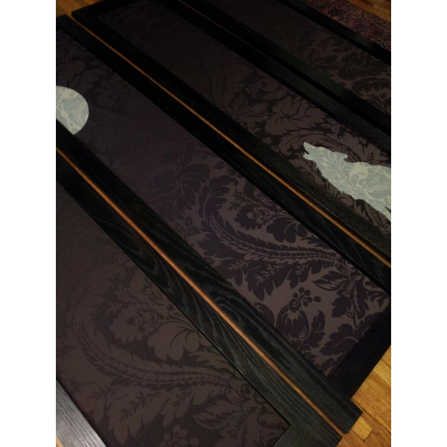 'Wolf Angst' Deep Purple Room Divider For Sale - Image 4 of 8