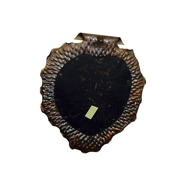 Arts & Crafts Copper Heart Shaped Mirror For Sale - Image 3 of 4