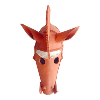 Wataru Sugiyama Mounted Haniwa Terra Cotta Horse Head Sculpture For Sale