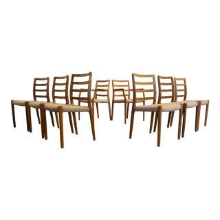 JL Moller Model 85 Teak Dining Chairs - Set of 8