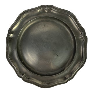 Mid 19th Century English Pewter Plate For Sale