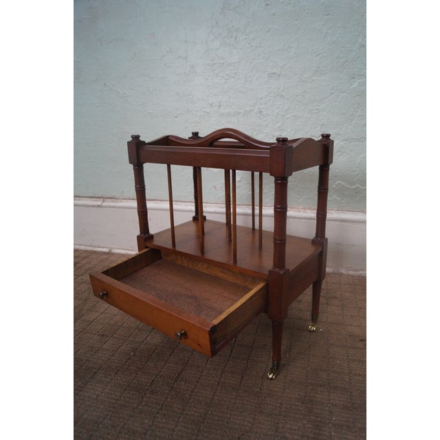 Schott Furniture Solid Mahogany Magazine Stand - Image 4 of 10