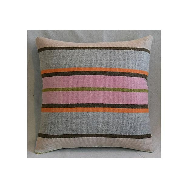 "20"" Custom Tailored Anatolian Turkish Kilim Wool Feather/Down Pillows - a Pair - Image 2 of 11"