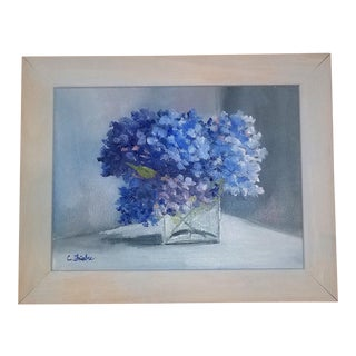 """""""Hydrangea Bouquet"""" Oil Painting by Christine Frisbee"""