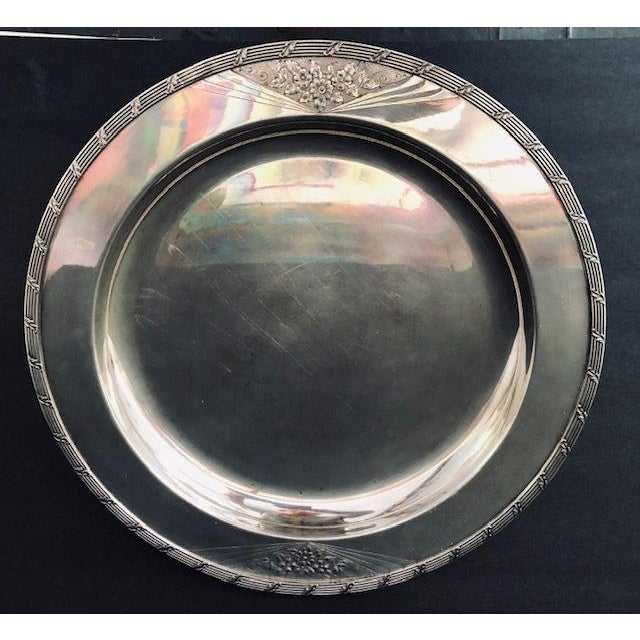 Art Deco Vintage International Silver Company Barbour s.p. Co. Serving Tray For Sale - Image 3 of 6