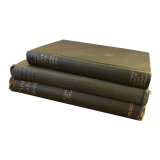 Antique Green Language Books - Set of 3 For Sale