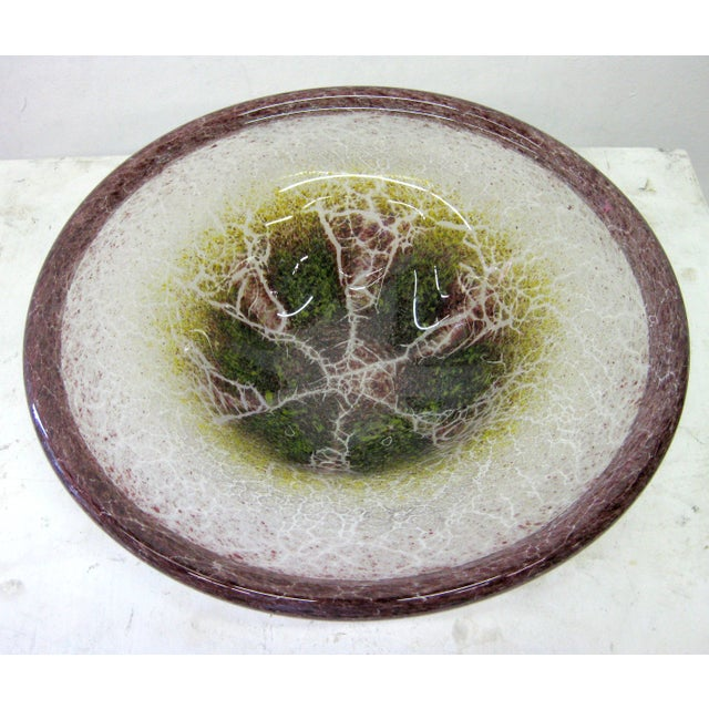 Blown Glass Serving Platter - Image 3 of 7