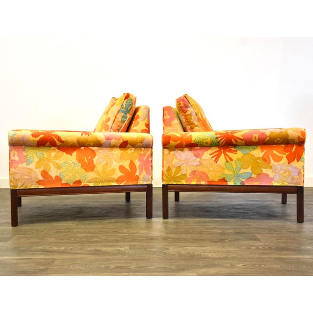 1960s Mid Century Walnut Lounge Chairs - a Pair For Sale - Image 5 of 9