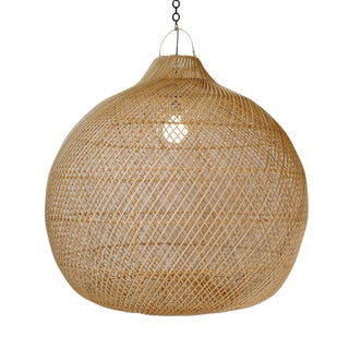 Rattan Donut Globe Lantern Large For Sale