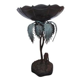 Camel & Palm Tree Pedestal Bowl
