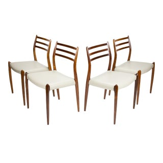 1960s Niels O. Møller Model #78 Rosewood Dining Chairs- Set of 4 For Sale