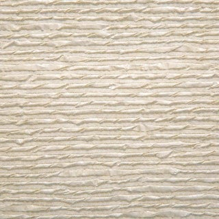 Sample, Twisted Paper- Off White - Hand-Painted Woven Paper Wallcovering For Sale