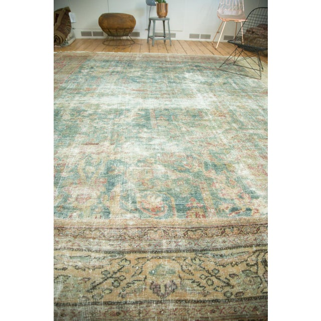 "Antique Mahal Square Carpet - 9'10"" x 10'9"" For Sale - Image 9 of 10"