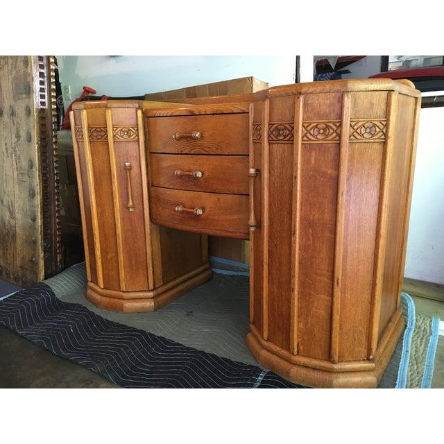 Art Deco Oak English Credenza - Image 8 of 10