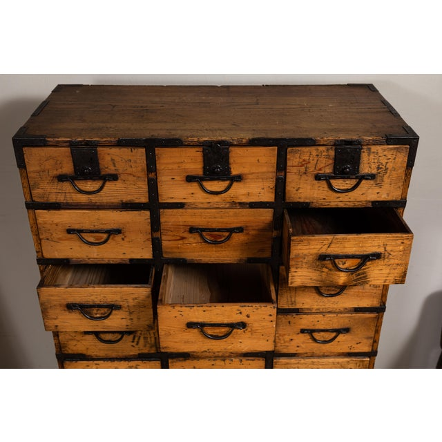 Late 19th Century Antique Japanese Tansu For Sale - Image 5 of 10