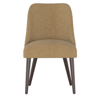 Rounded Back Dining Chair in Aiden Almond For Sale