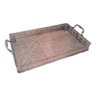 Silver Filigree Tray For Sale