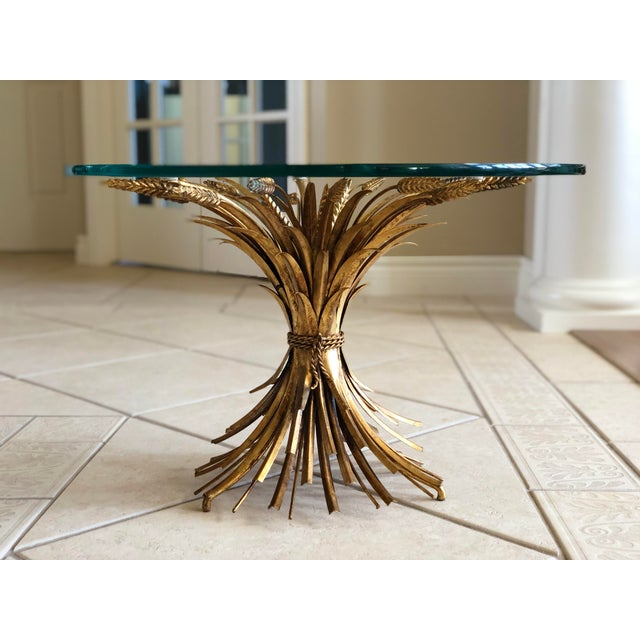 1960s Vintage Maison Baguès Sheaf of Wheat Coffee Table For Sale In Detroit - Image 6 of 6