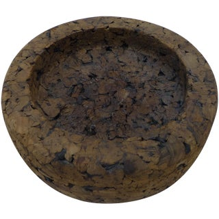 Mid-Century Retro Cork Dish