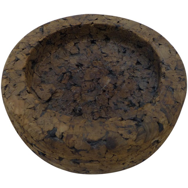 Mid-Century Retro Cork Dish - Image 1 of 7