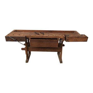 1900s Carpenters Work Bench For Sale