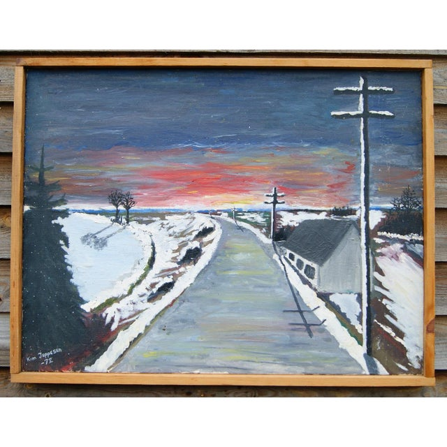 """""""Expressionistic Winter Road"""" by Kim Jeppesen - Image 2 of 5"""
