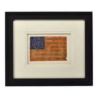 Late 19th Century 38 Star American Flag With Medallion Star Arrangement For Sale