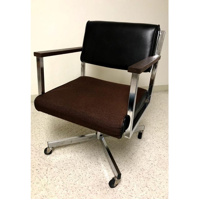 Mid-Century Modern Vintage EckAdams Corp 1970's Office Chair For Sale - Image 3 of 9