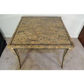 Vintage Maitland Smith Tessellated Fossil Stone Klismos Center Game Dining Table Preview