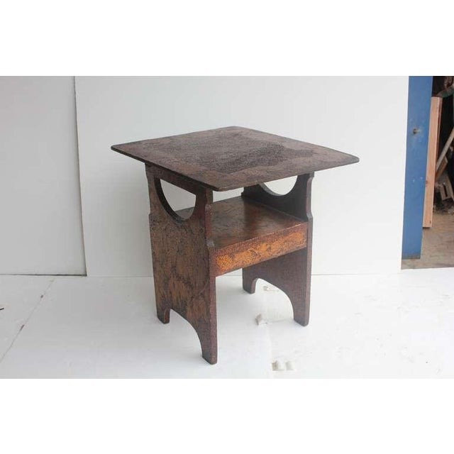 Folk Art Hand Made Wooden Chair/Table - Image 4 of 6