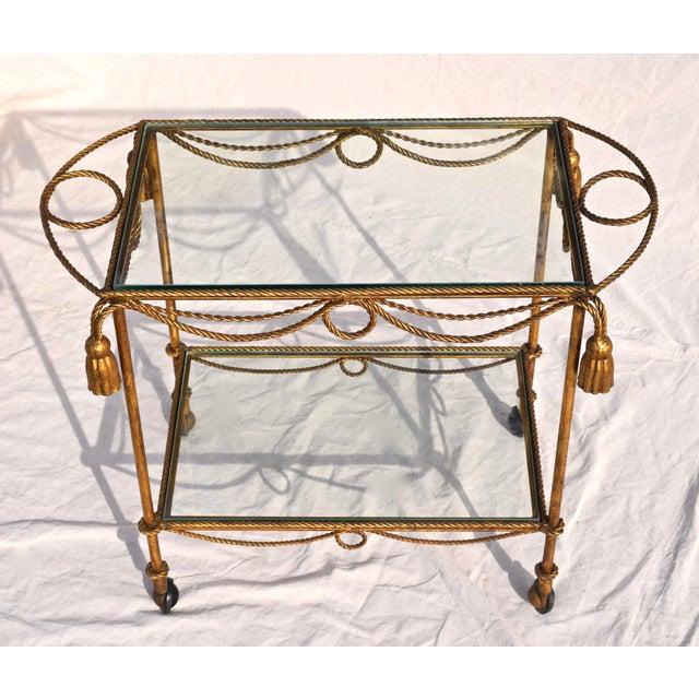 Hermès Italian Gilt Bar Cart For Sale - Image 4 of 11
