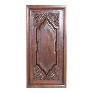Antique Renaissance Revival Walnut Panel For Sale