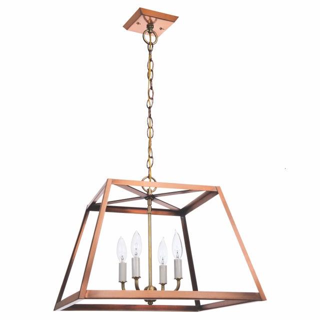 Contemporary Lantern & Scroll Hampton Dunes Pendant, Copper For Sale - Image 3 of 3