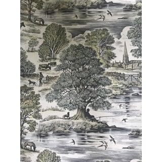 Lewis & Wood Royal Oak Linen/Cotton Fabric - 3 Yards For Sale