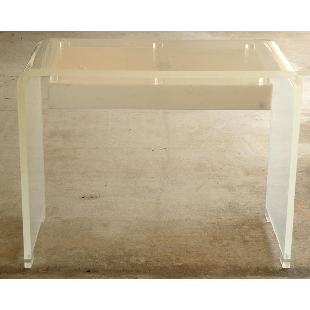 Lucite Waterfall Desk or Vanity For Sale In West Palm - Image 6 of 6