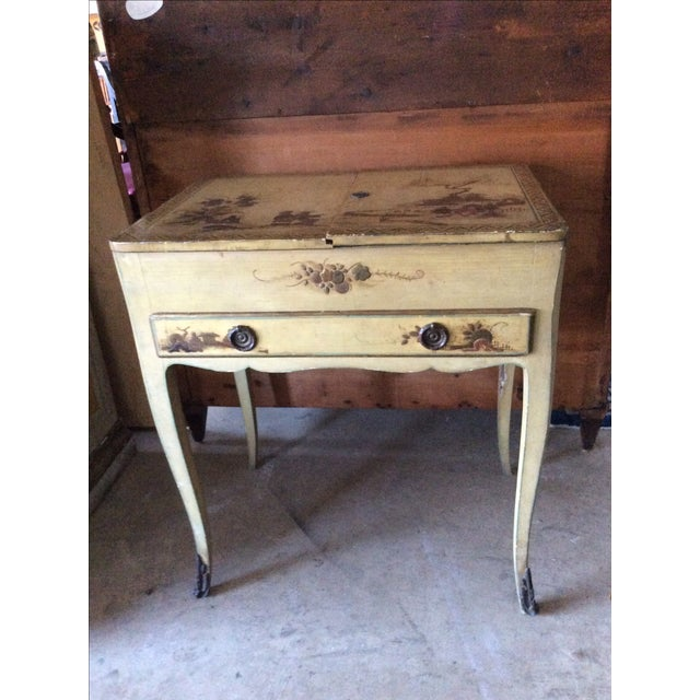 Shabby Chic Vintage Chinoiserie Vanity - Image 2 of 9