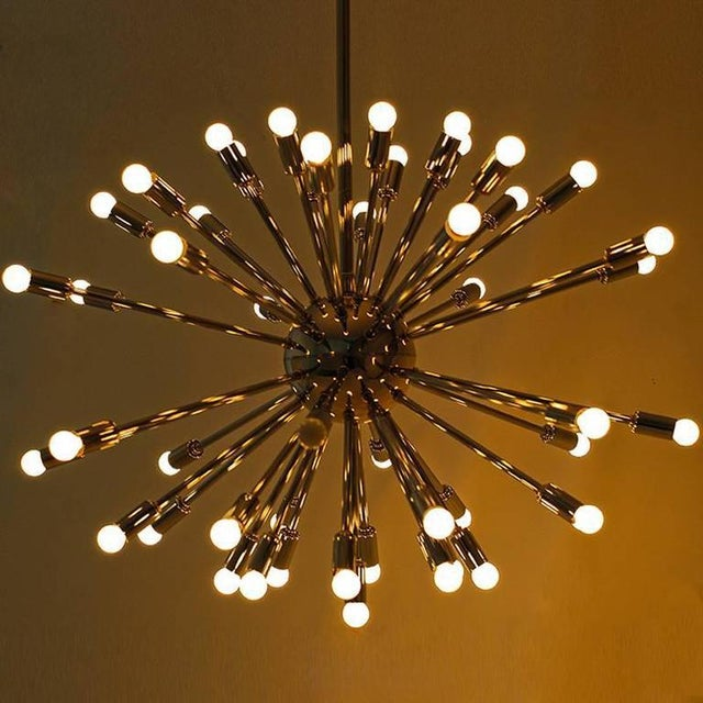 Modern Chrome Multi-Light Sputnik Chandelier For Sale - Image 4 of 5
