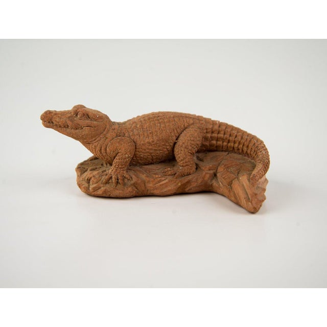Here is sweet little crocodile sculpture by Italian artist Frostino Gianelli. The detail is excellent and there is no...