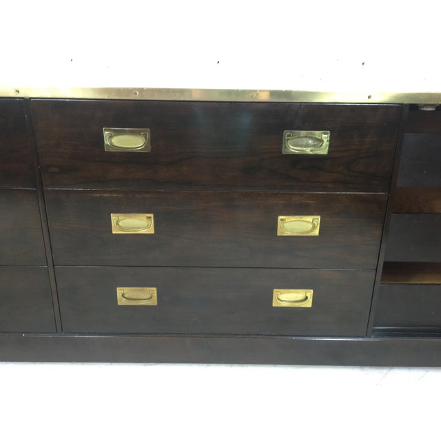 Baker Attributed Campaign Style Dresser - Image 5 of 6