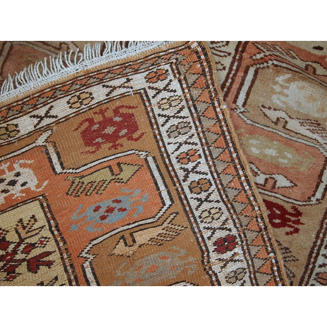 "Textile 1940s Vintage Turkish Oushak Handmade Runner - 2'5"" x 8' For Sale - Image 7 of 10"