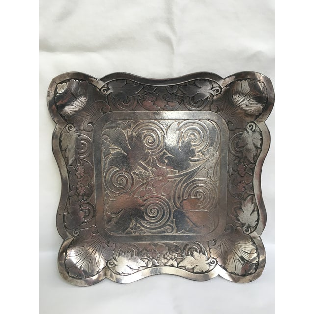 Late 19th Century Antique James Tufts Silver Plate Pitcher & Tray For Sale - Image 9 of 13
