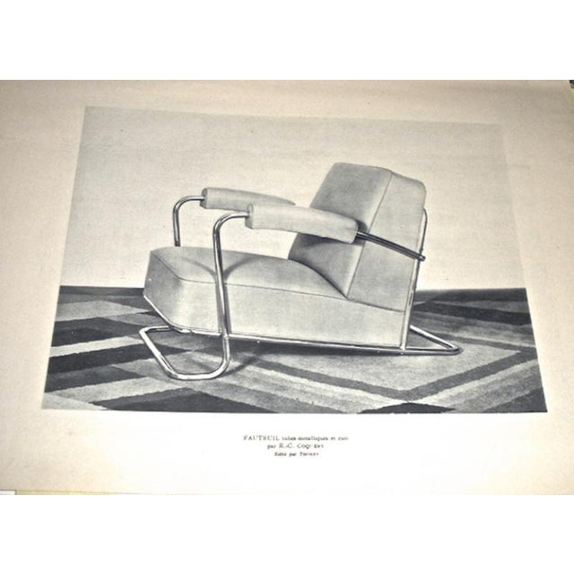 Art Deco Thonet Frères by René Coquery Documented Modernist Pair of Club Chairs For Sale - Image 3 of 8